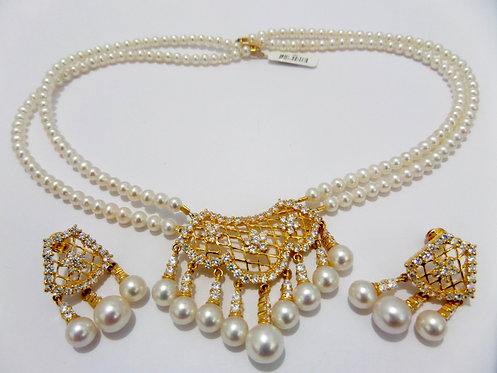 22ct Gold Pearl Set (NCNK021)