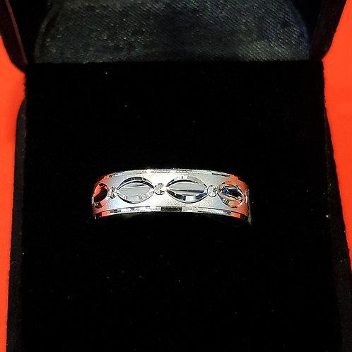 Mens 925 Sterling Silver Wedding Band (ABDMWB004)