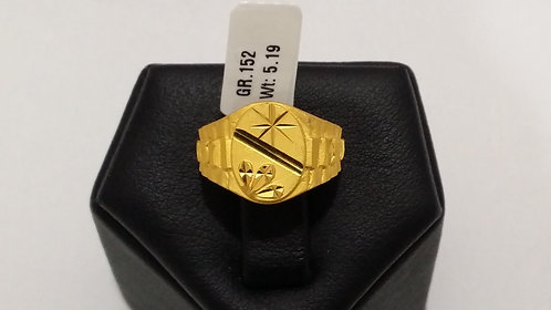 22ct Mens Gold Ring (GR152)