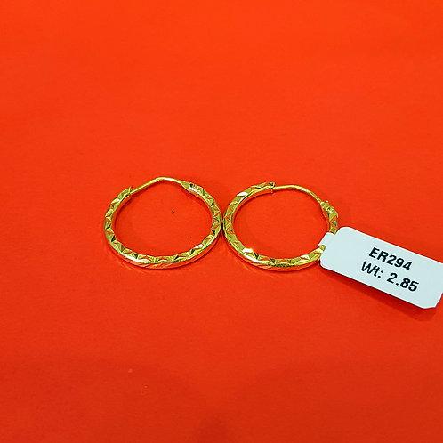 22ct Gold Hoops/Bali (ER294)