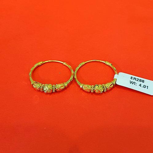 22ct Gold Hoops/Bali (ER288)
