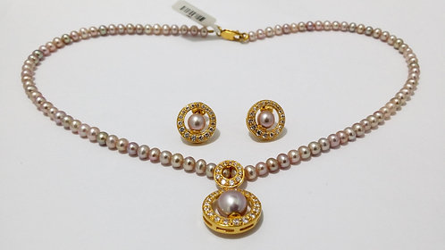 22ct Gold Pearl Set (NCNK016)