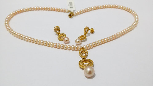 22ct Gold Pearl Set (NCNK011)