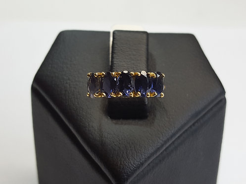 9ct Yellow Gold Blue Sapphire Ring (RG007)