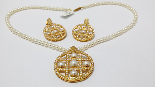 22ct Gold Pearl Set (NCNK025)