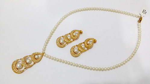 22ct Gold Pearl Set (NCNK018)