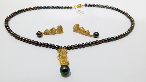 22ct Gold Pearl Set (NCNK012)
