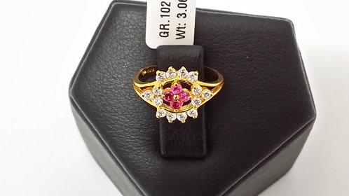 22ct Ladies Gold Ring (GR102)