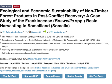 Ecological and Economic Sustainability of Non-Timber Forest Products in Post-Conflict Recovery -MDPI