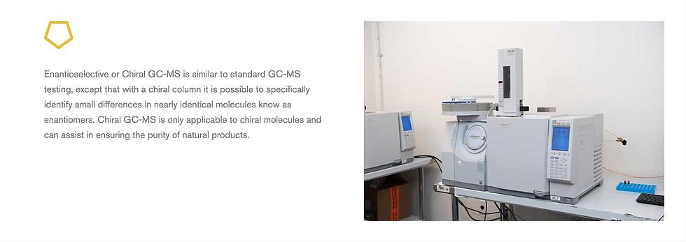 Chiral GC-MS science description