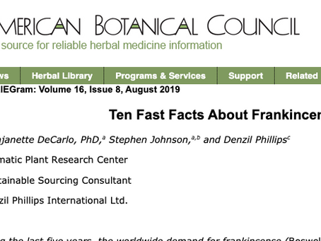American Botanical Council: Ten Fast Facts About Frankincense