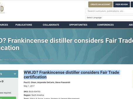 WWJD? Frankincense distiller considers Fair Trade certification