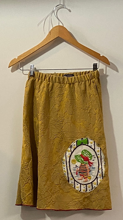 mustard with holly hobby skirt