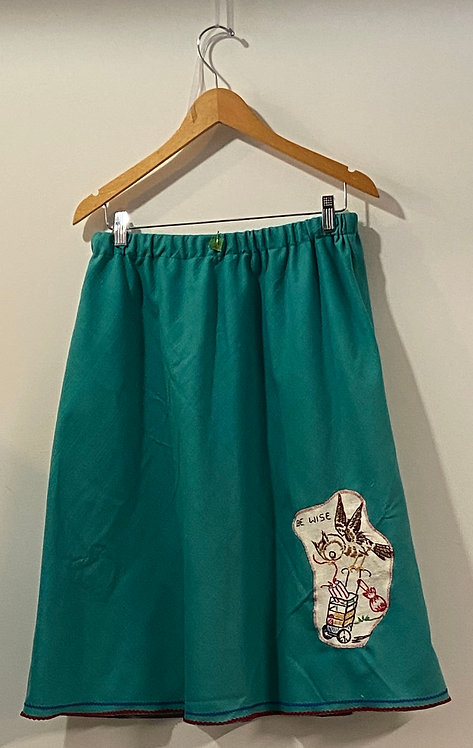 be wise turquoise skirt