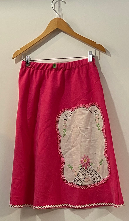 pink corduroy tatting skirt