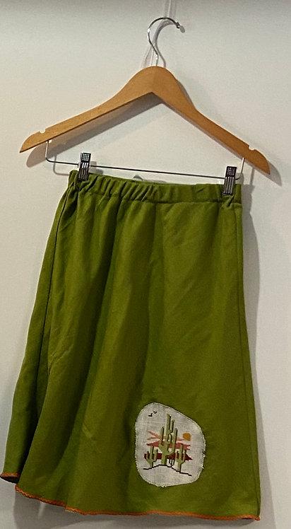 green cactus skirt