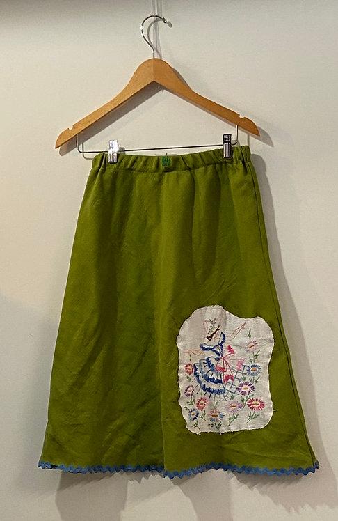 avocado girl in flower garden skirt