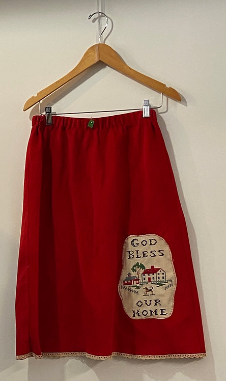 red corduroy dog skirt