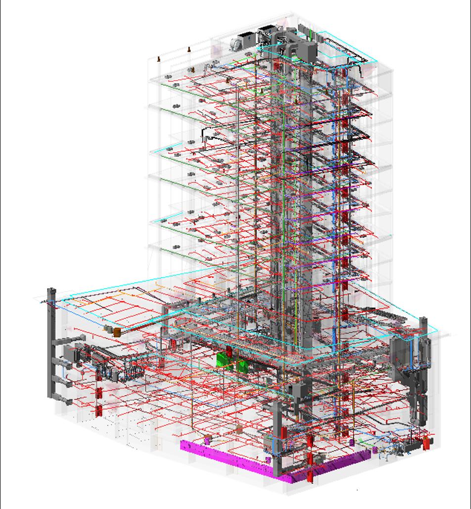 EDIFICIO OFICINAS CORSO   Servicio: BIM Manager - Licitación - Inspección Técnica de Obras. Cliente: Proyecta Gestión - CORSO Inversiones. Constructora: Mena y Ovalle. M2 Construidos: 17.000.