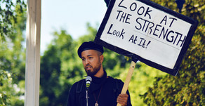 The Signs, Speakers & Support at Black Lives Matter Cheltenham Protest