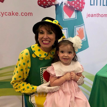 Miss PattyCake and her fan