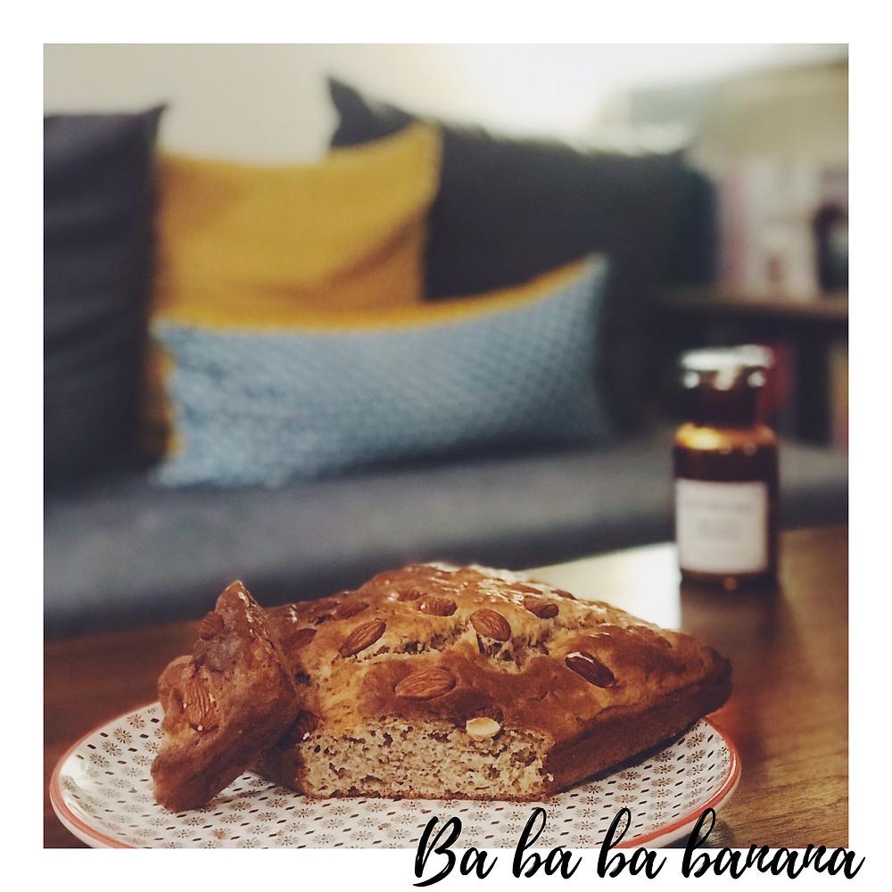 Photo banana bread aux amandes