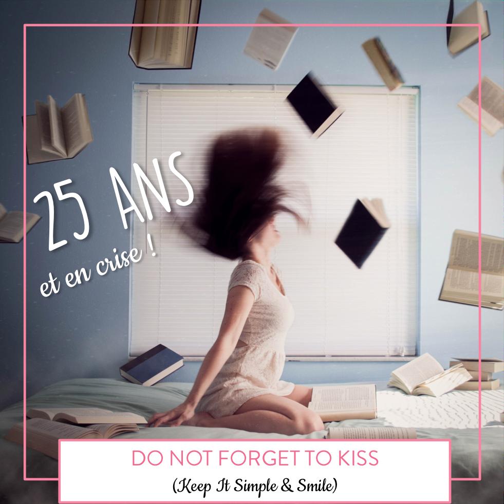 Femme sur un lit avec des livres qui volent autour d'elle