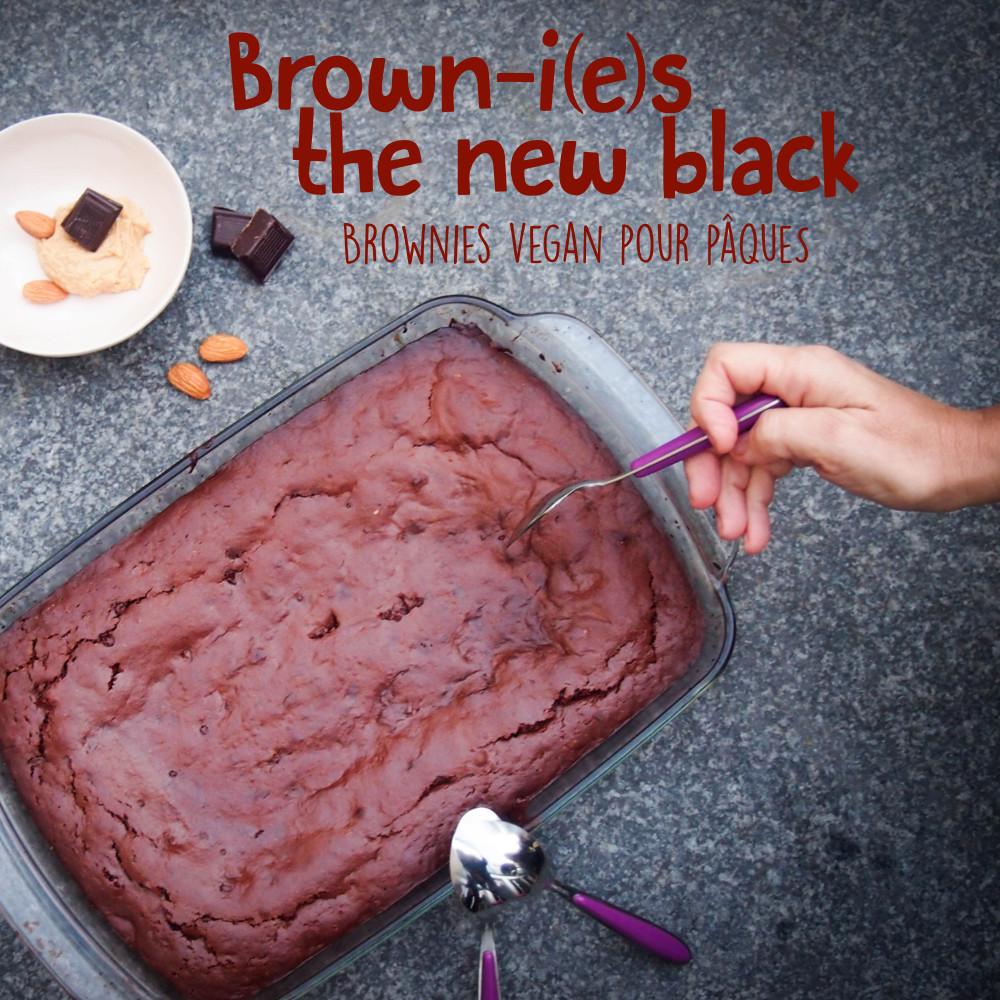 Do Not Forget To Kiss - Brownies vegan pour pâques - gourmandises, dessert, recette, sucré