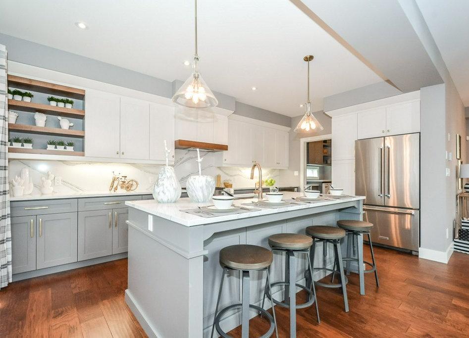 komoka model home kitchen