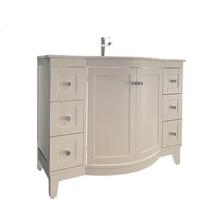 Single Bathroom Vanity Set, White
