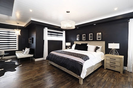 hardwood flooring in bedroom