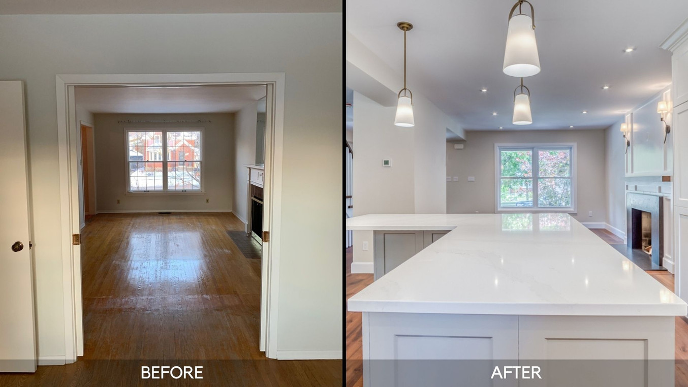 Before and After - Kitchen Layout