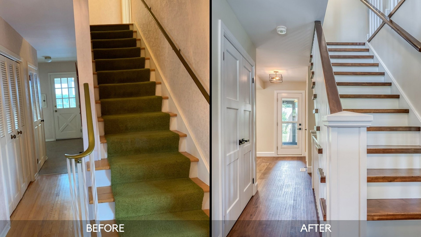 Before and After - Staircase