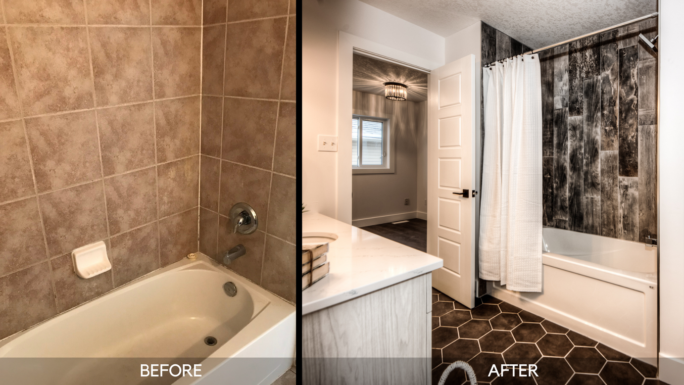Ensuite Tub - Before and After