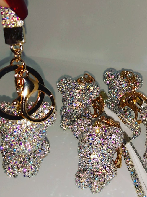 Couture Baby Bling Bear Keychain