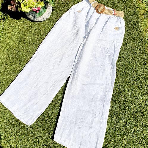 Zina LinenTrousers White