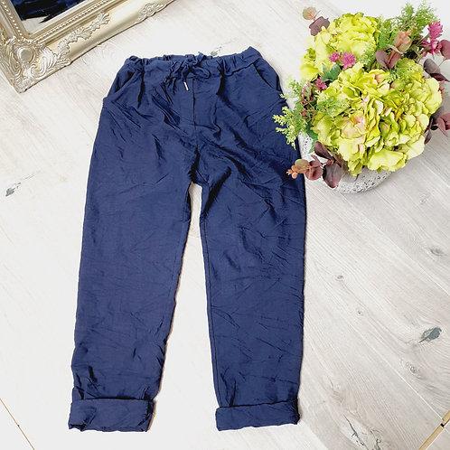 Magic Trousers Plain Size 2 Navy