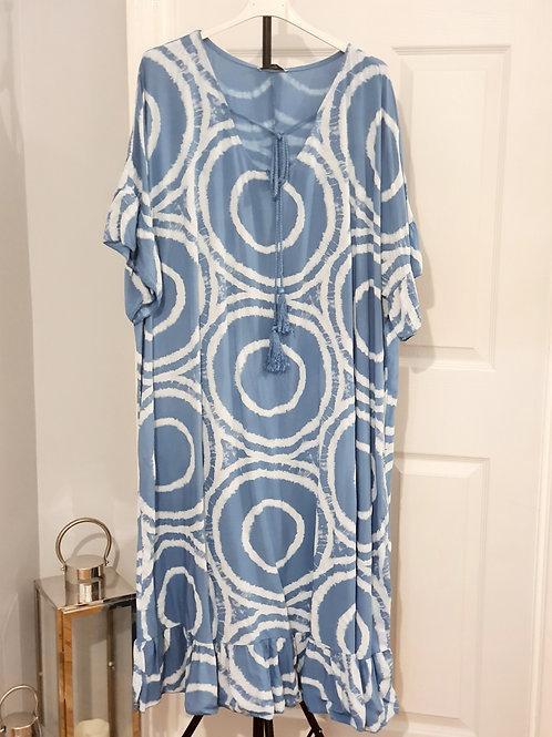 Tye Dye Maxi Dress Denim