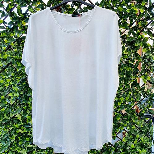 Brigitte Plain T shirt White