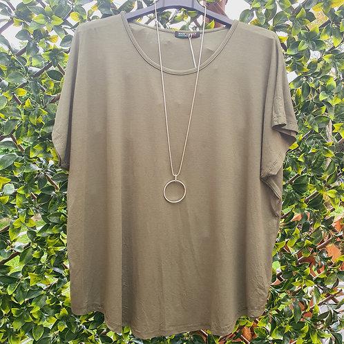 Brigitte Plain T shirt Khaki