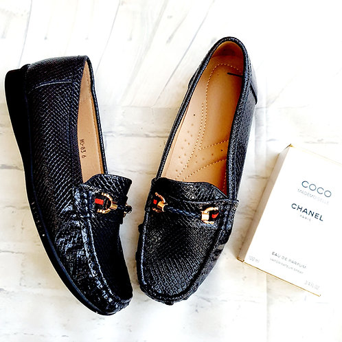 Lucy Patent Loafer Navy