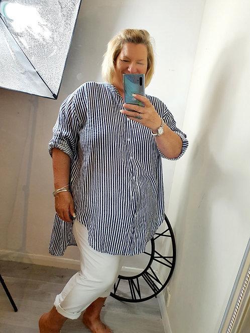 Candy Stripe Shirt Navy