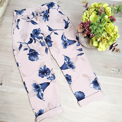 Magic Trousers Size 2 Floral Light Pink