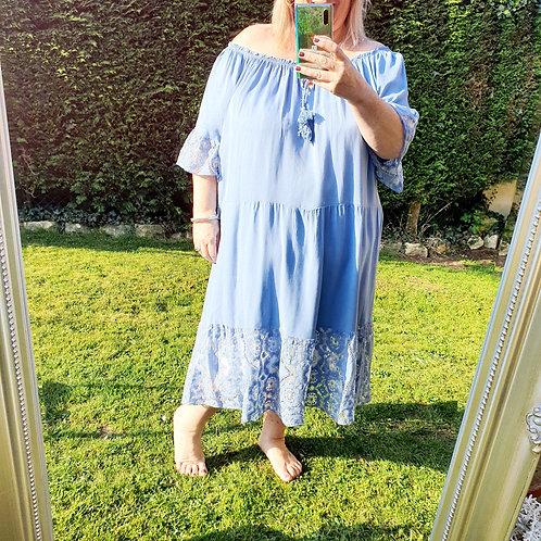 Nicole Midi Dress Denim