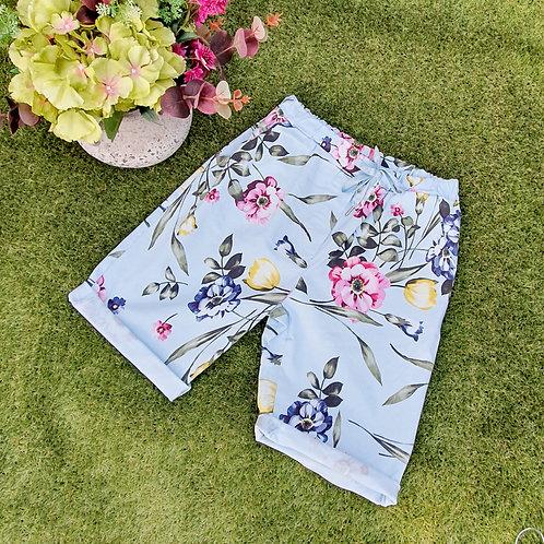 Magic Shorts Size 1 Floral Shorts Blue