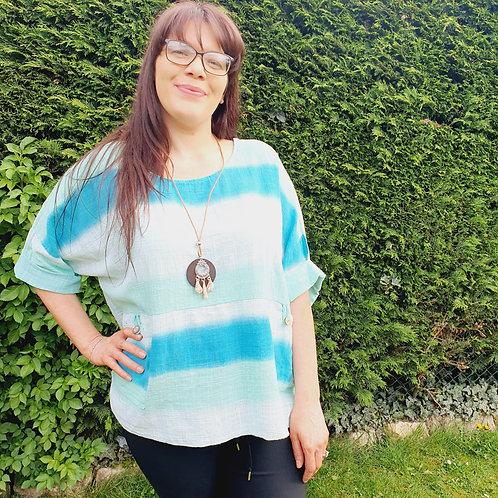 Diana Tye Dye Top with Necklace