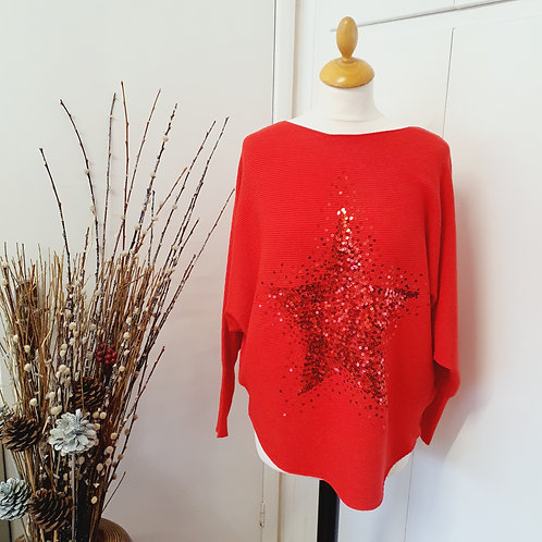 Lucy Star Sequin Jumper