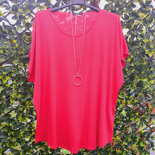 Brigitte Plain T shirt Fushia