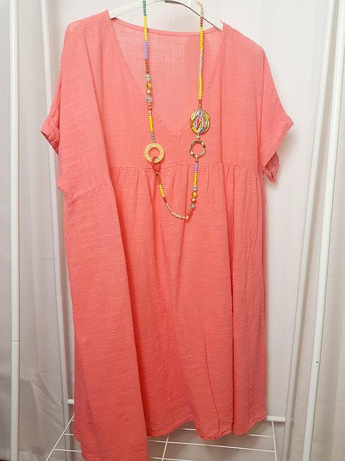 Boho Top/Dress Coral