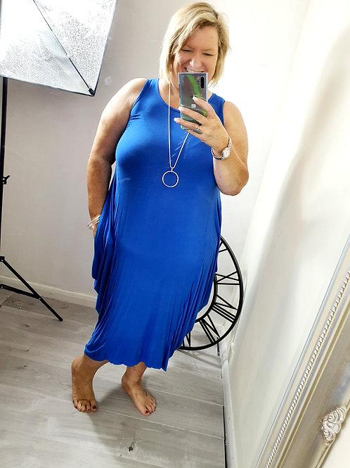 Milan Parachute Dress Cobalt Blue